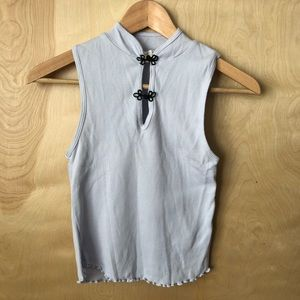 Urban Outfitters Ribbed Top with Oriental Buttons